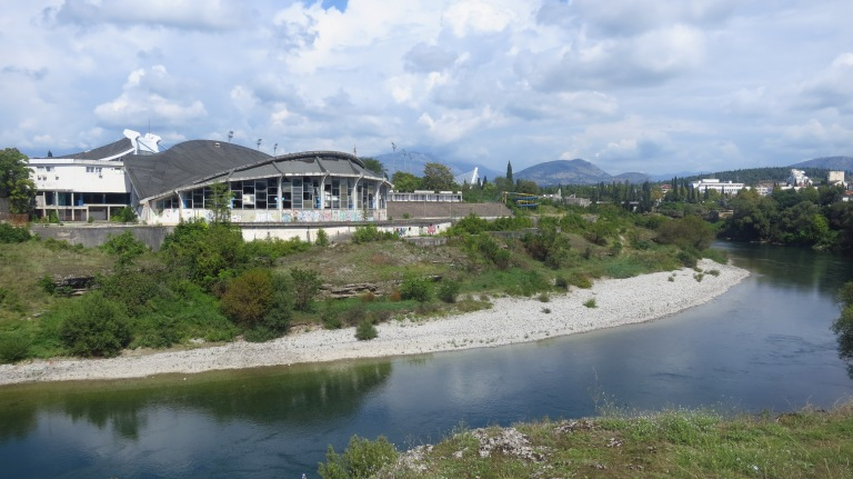 The decayed sportspalace in the capital of Montenegro