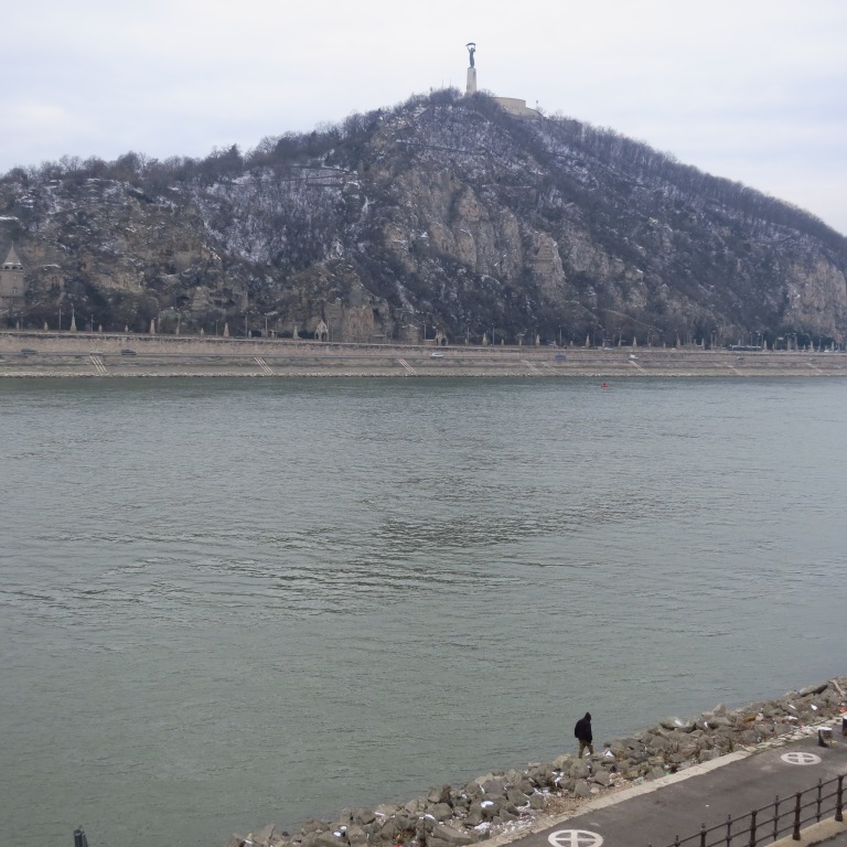 View over the danube to Gellért-Hegy