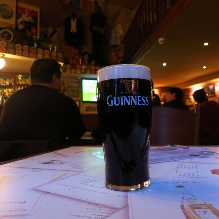 My first, and definitely not the last, Guinness in Budapest