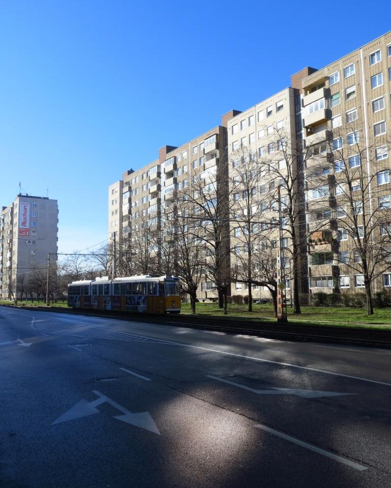 The lovely Plattenbauten of the communism era a bit outside of the center