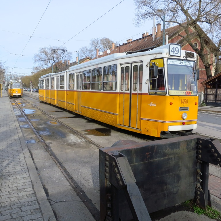 First ride on the famous trams of Budapest