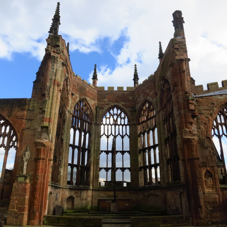 The cathedral of Coventry. Destroyed in the second worldwar