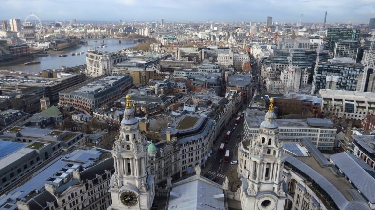 View from the St. Pauls Cathedral over... Budapest?