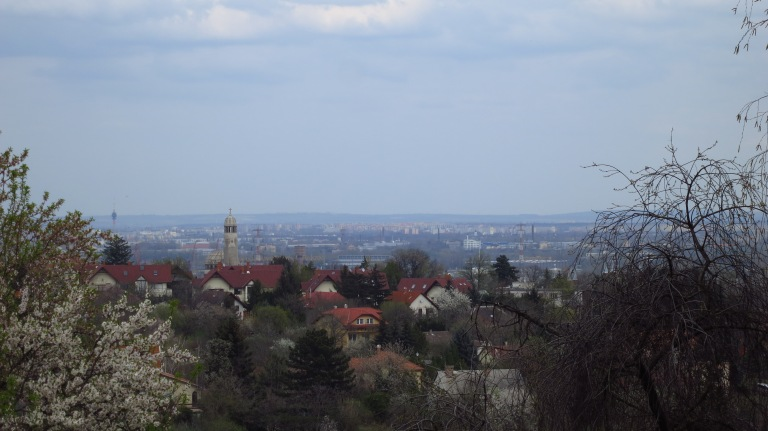 View over the not so famous part of Budapest