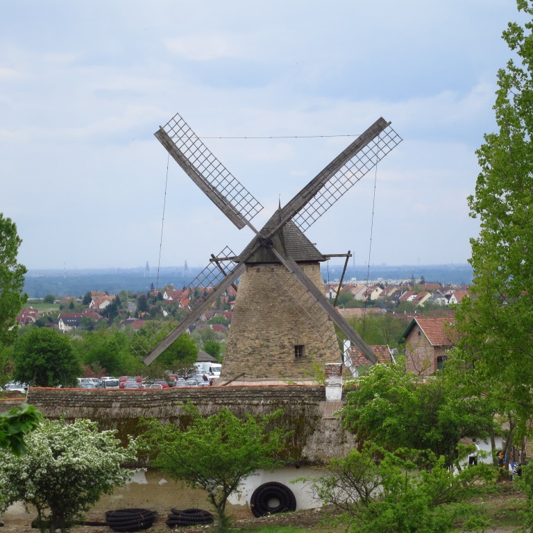 The local windmill with Budapest in the distance