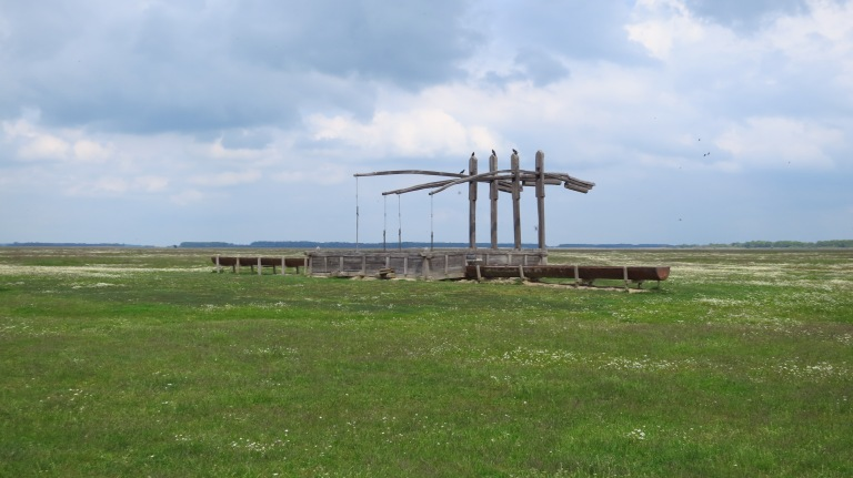 The typical draw wells of the Puszta