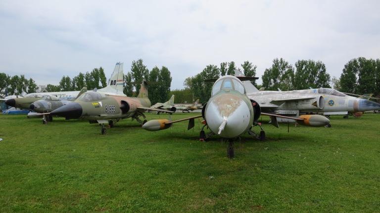 Some older jets from sowjets, sweden and france