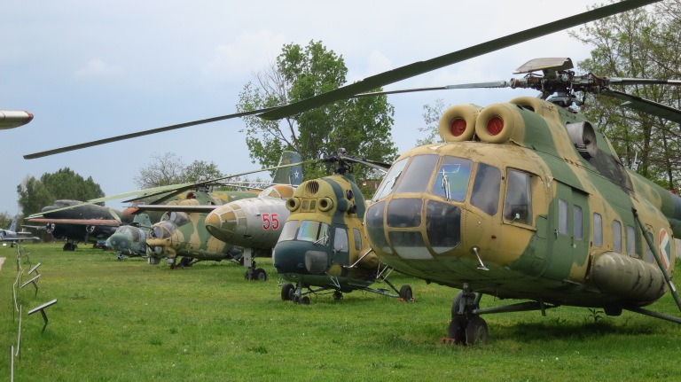 The parade of the helicopters