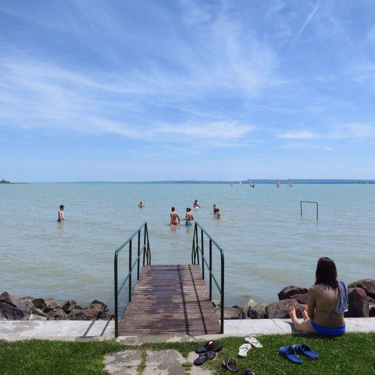 Had a swim in the, for hungarian relations, very cold Balaton (~21°)