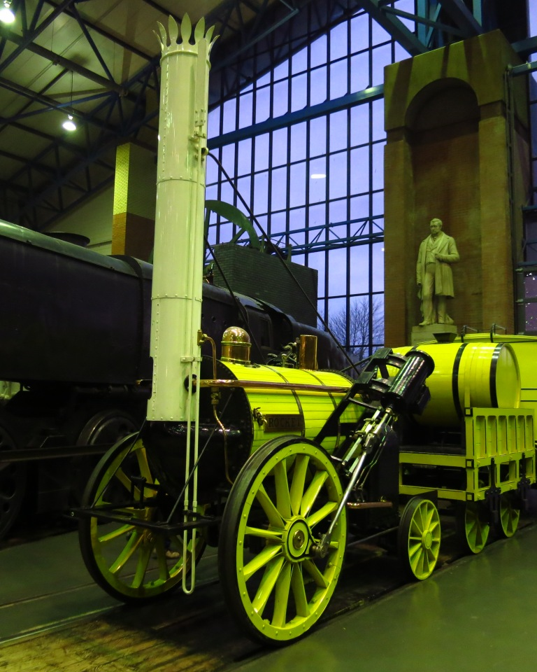 The Rocket (1829) - the worldwide first locomitive in operation between Liverpool and Manchester