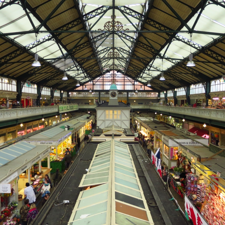 The local market of Cardiff